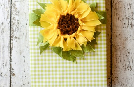 Sunflower Ribbon Gift Topper