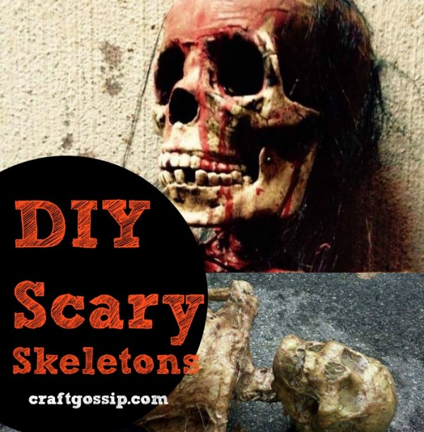DIY Scary Skeleton Halloween Props