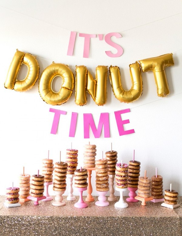 Party Food  ? How To Make A Donut Wall