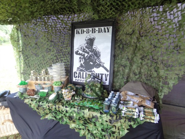 diy army call of duty party ideas party ideas. Black Bedroom Furniture Sets. Home Design Ideas