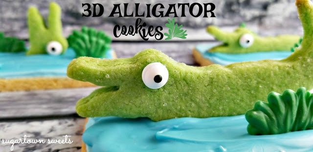 3D Alligator in the Swamp Cookies
