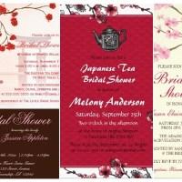 Bridal Shower Cherry Blossom Floral Invitations