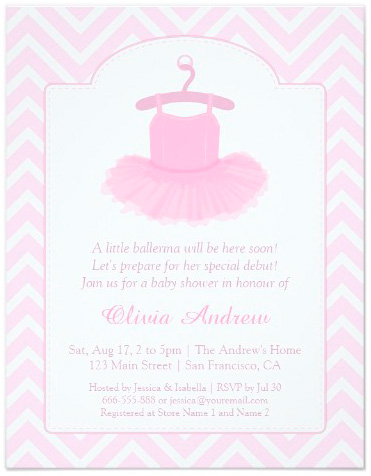 Baby Ballerina Tutu Invitations Party Ideas