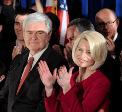 Gingrich with 3rd wife Callista