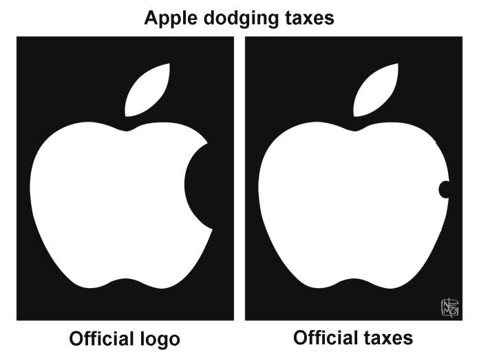 Tax Dodging Cartoon