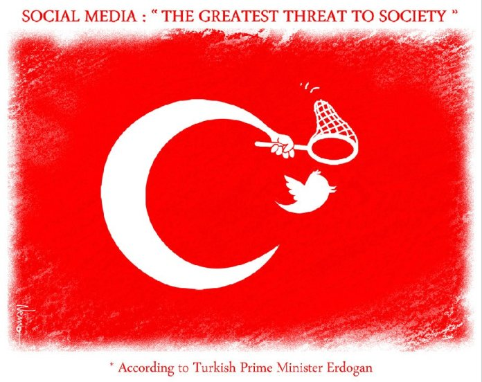 Turkey Bans Twitter Cartoon