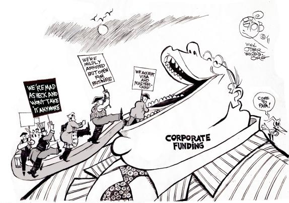 corporate funding of elections cartoon