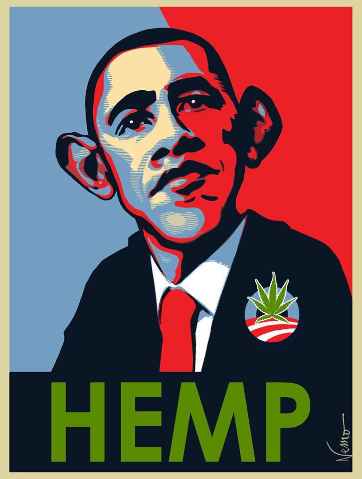 Obama, Hemp, cartoon