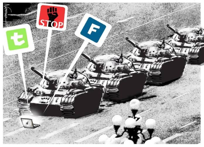 Tiananmen Square Cartoon