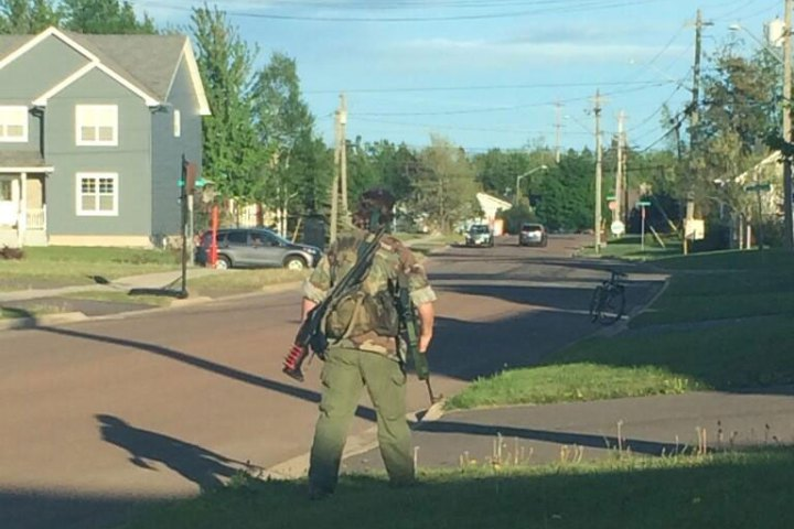 Picture taken on twitter during the Moncton shootings.