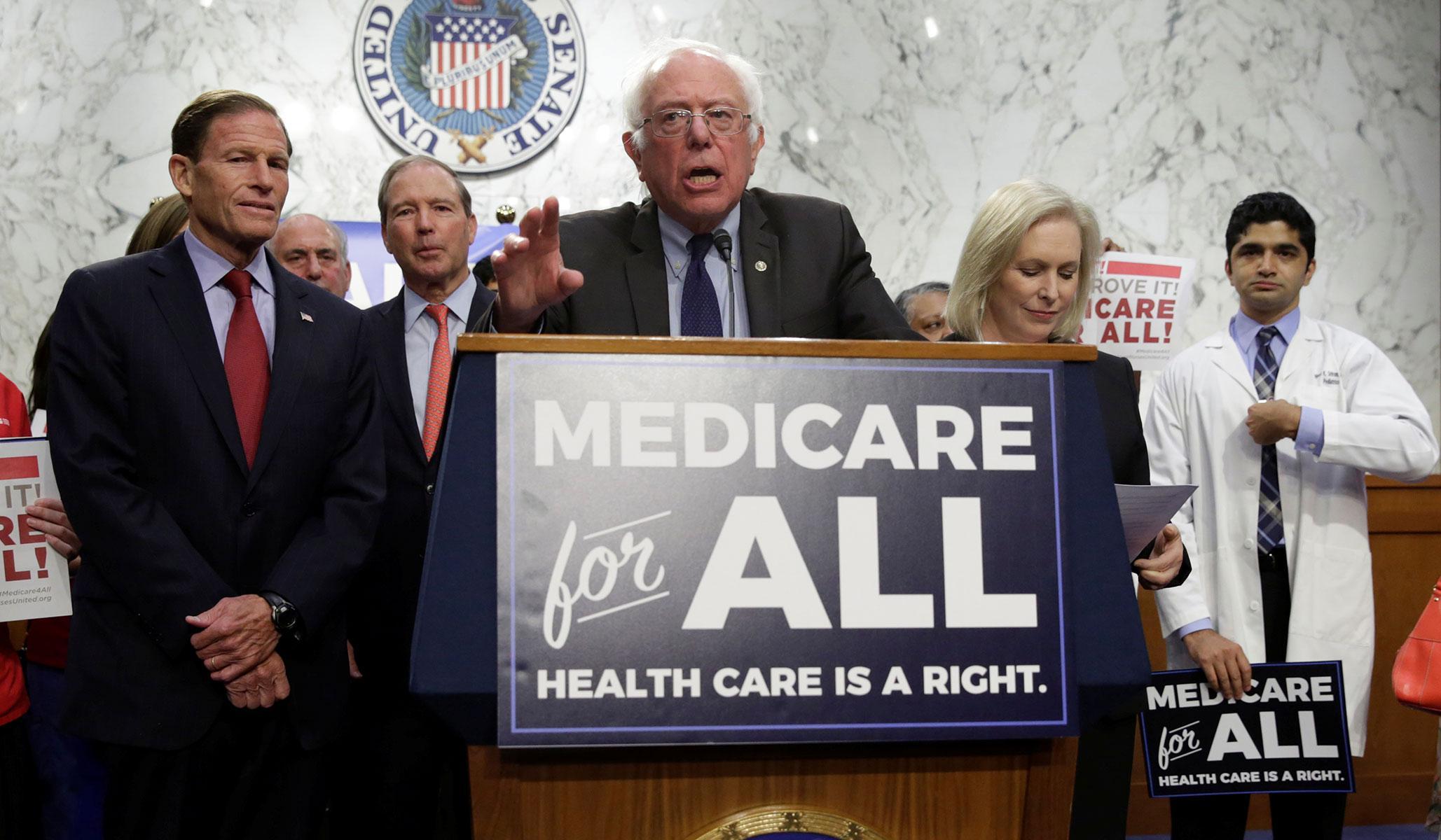 single-payer healthcare, bernie sanders