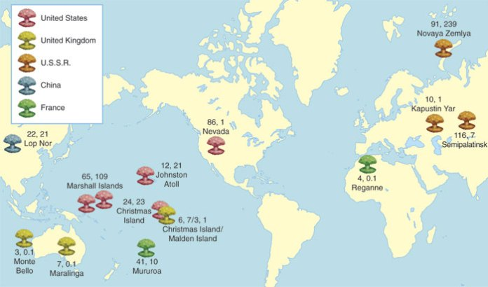 Nuclear weapon test sites