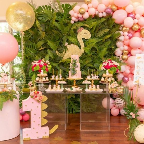 Girly Girl Pink Dinosaur Party