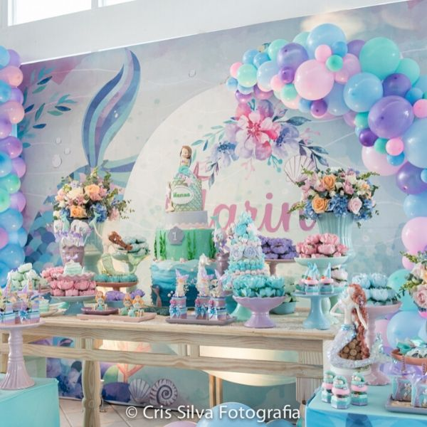 Modern Glamorous Mermaid Party