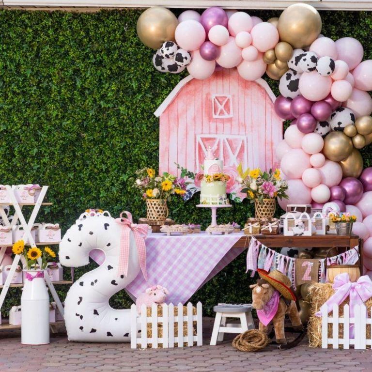 Girly Girl Pink Barnyard Birthday Party
