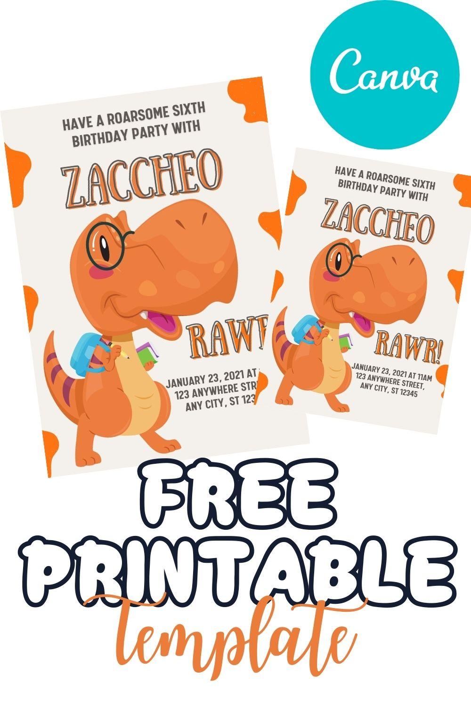FREE PRINTABLE TEMPLATE DINO RAWR