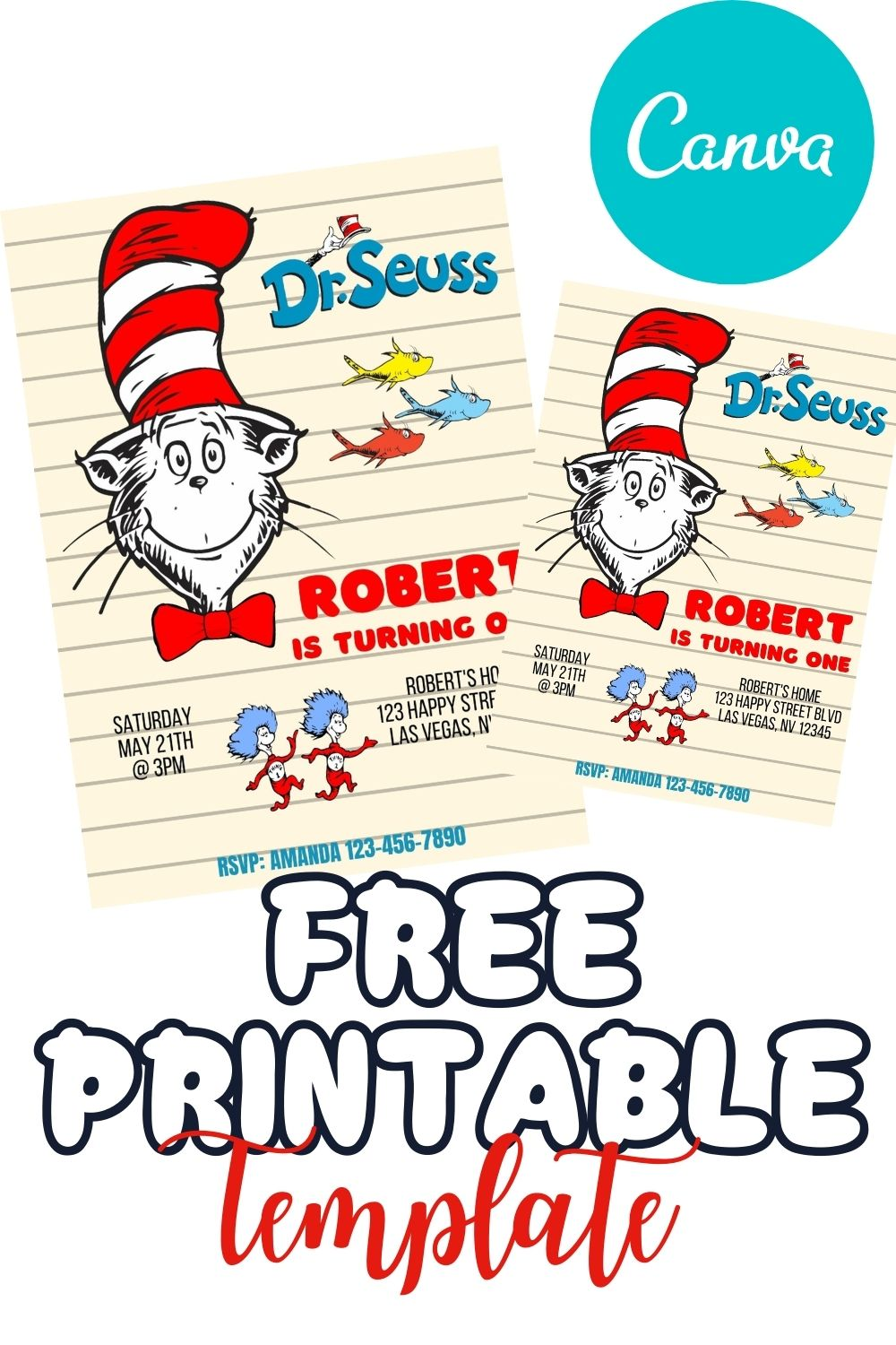 FREE PRINTABLE TEMPLATE THE CAT IN THE HAT II