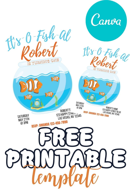 FREE PRINTABLE TEMPLATE IT'S O FISH Al