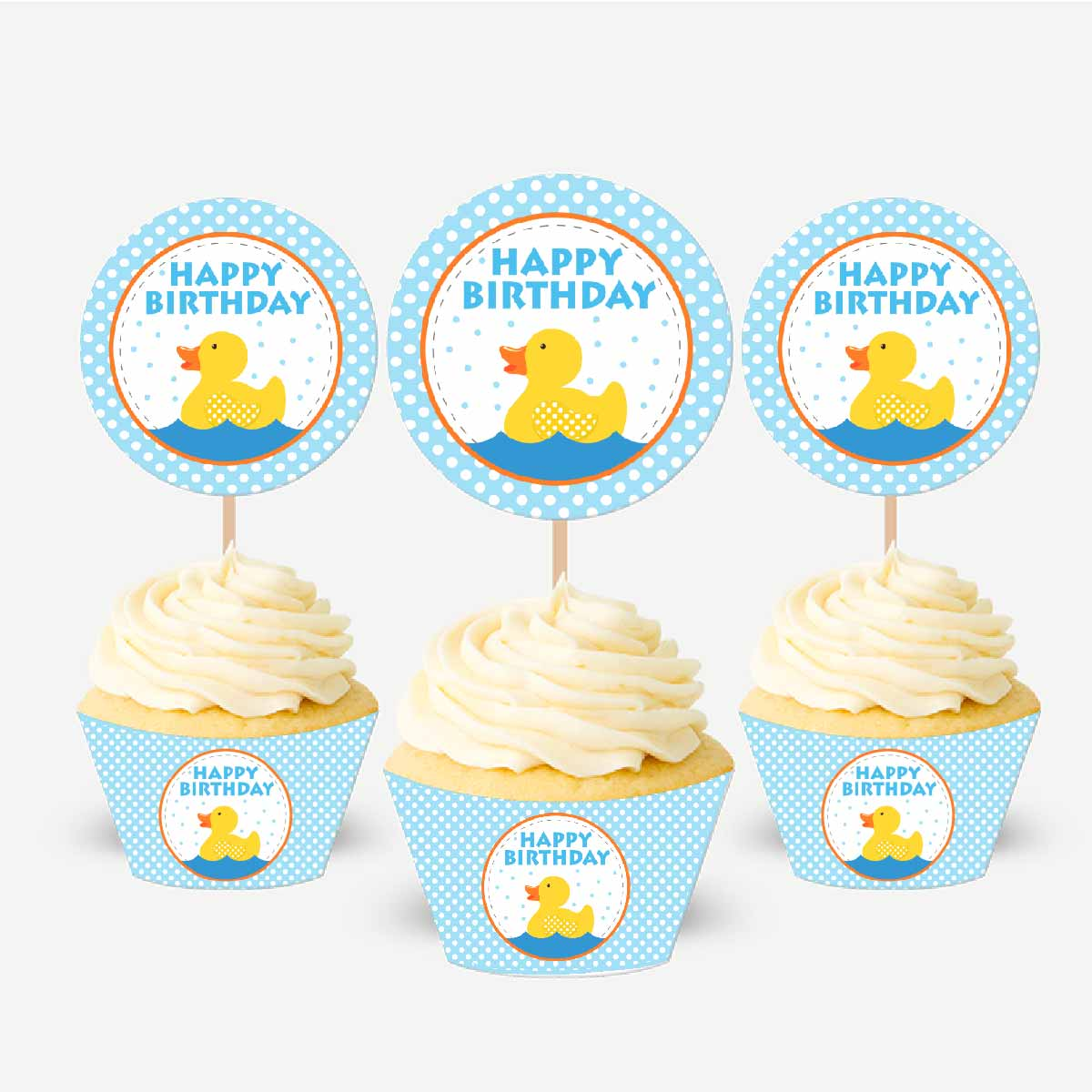 Little Duck Printable Birthday Party Rubber Ducky Party