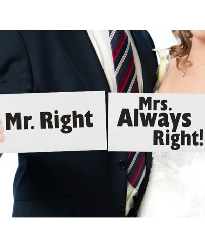 mr right mrs always right props