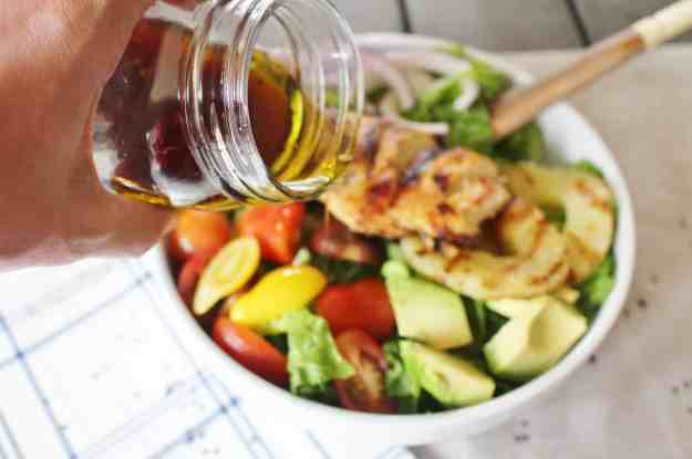 Teriyaki vinaigrette for grilled chicken salad