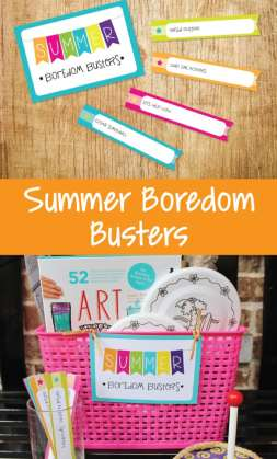 summer boredom busters and FREE printable