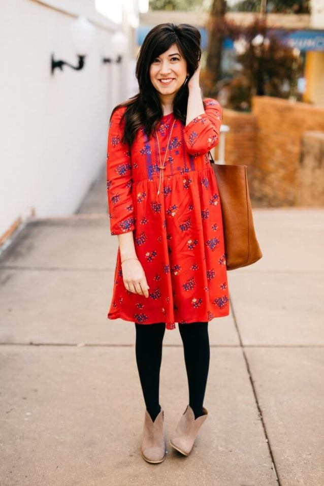 Outfit of the Week// Little Red Dress via partyofsarah.com