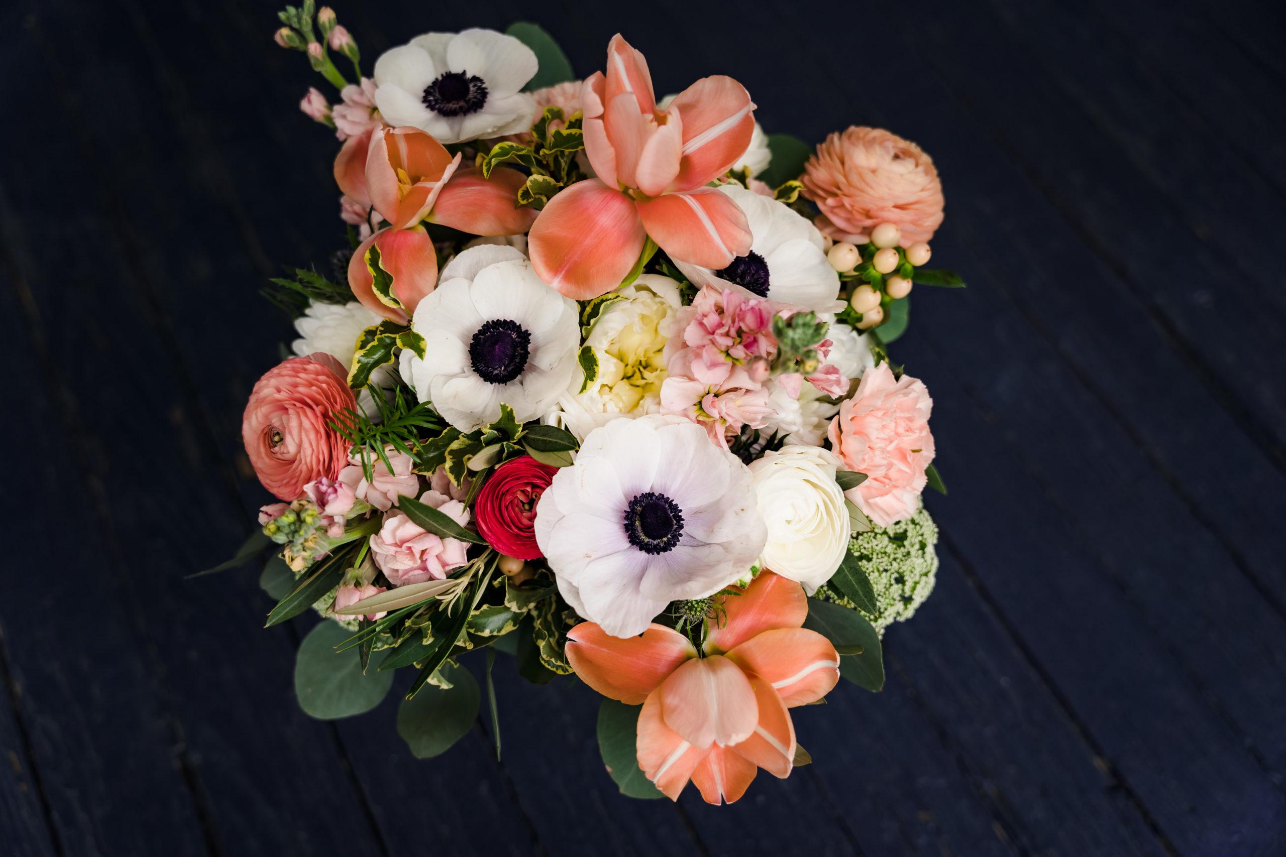 Springtime bridal bouquet