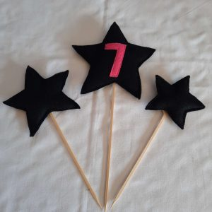 Stars cake toppers