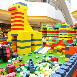 Giant Lego Foam Bricks Playground Set up for Shopping Mall
