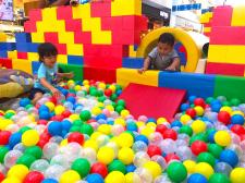 Tunnel with Slide Ball Pit