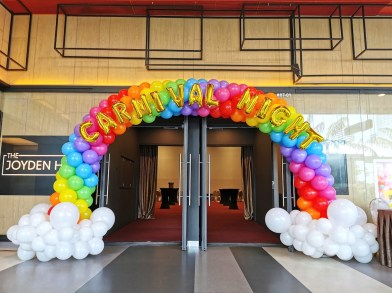 Rainbow on Cloud Balloon Arch