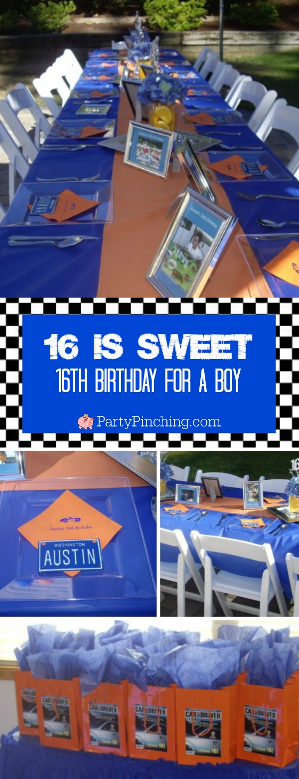 Sweet 16 Party Ideas For Boys Driver S License Theme Best Sweet 16 For Boy