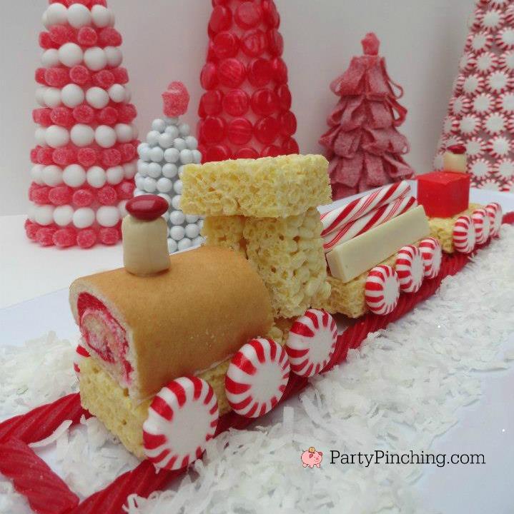Snack Cake Sweet Christmas Train No Bake Easy To Make