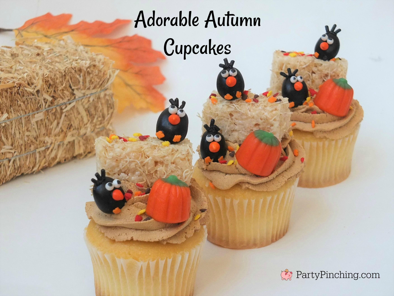 Crow Cupcakes For Harvest Halloween Fall Autumn