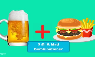 3 Øl og Mad Kombinationer