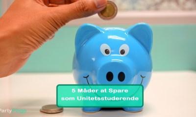 5 Lette måder at Spare penge som Universitetsstuderende