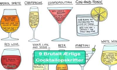 9 Brutalt Ærlige Cocktailopskrifter