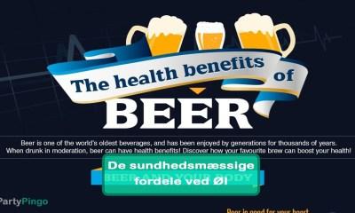 De sundhedsmæssige fordele ved Øl infografik