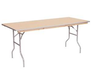 A Picture Of Six Foot Table Available At Party Rental Company In North Randall, OH - Party Safari