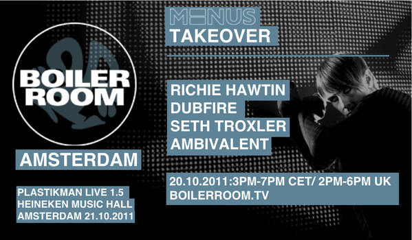 boilerrom.tv überträgt Plastikman Live Set vom Amsterdam Dance Event