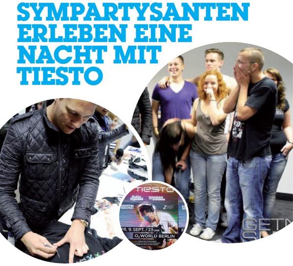 Sympartysanten erleben eine Nacht mit Tiesto. Meet & Greet @ Get no sleep