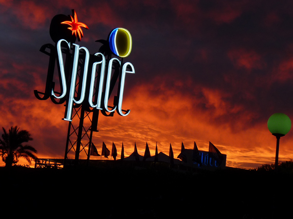 space ibiza sunset