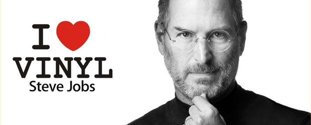 Apple Gründer Steve Jobs loves vinyl