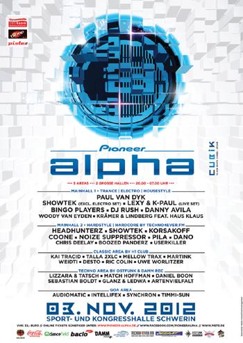 Pioneer Alpha Festival 2012 Lineup und Tickets