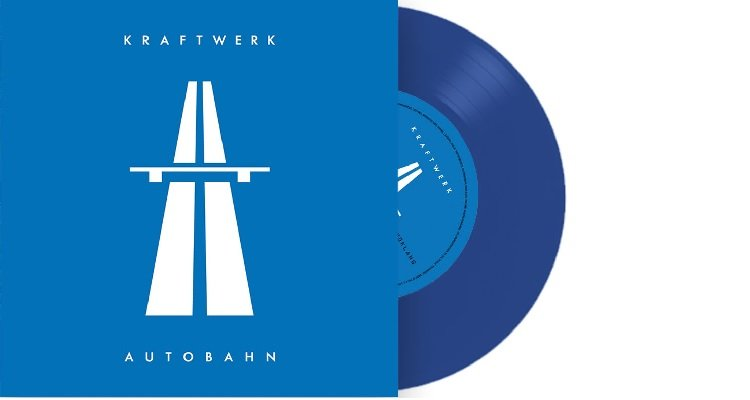 """Verlosung: Kraftwerk - Autobahn auf blauem 7""""-Vinyl"""