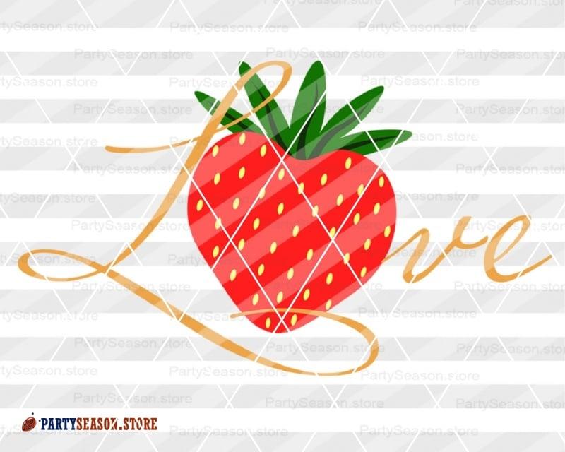 Download Love Strawberry SVG
