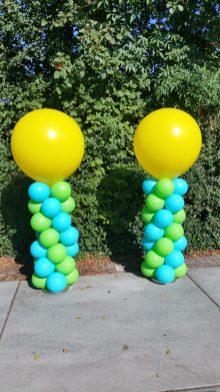 Groen/blauw gele top normale pilaar