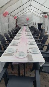 4x8 tent met lange tafel