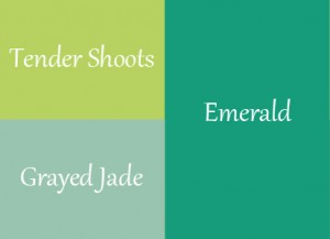 2013 Wedding Trends Greens - Greyed Jade, Emerald, Tender Shoots
